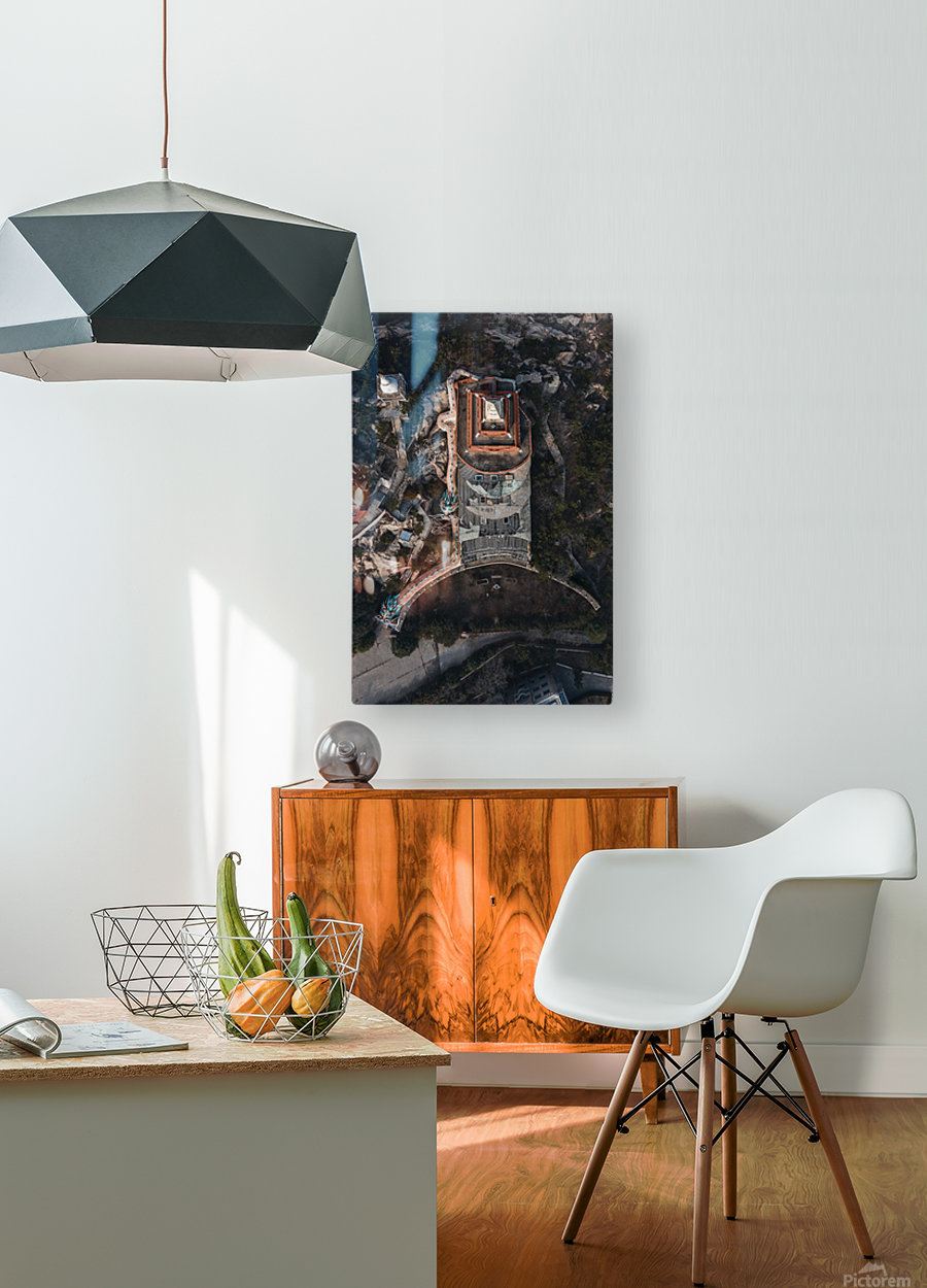 Abandoned Dragon Hotel  HD Metal print with Floating Frame on Back
