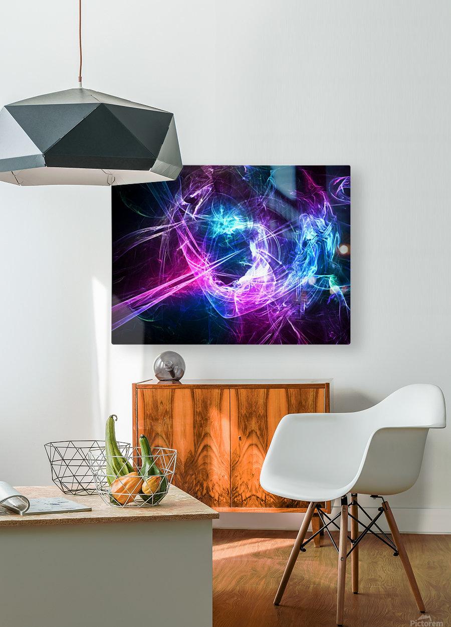 Leaver  HD Metal print with Floating Frame on Back