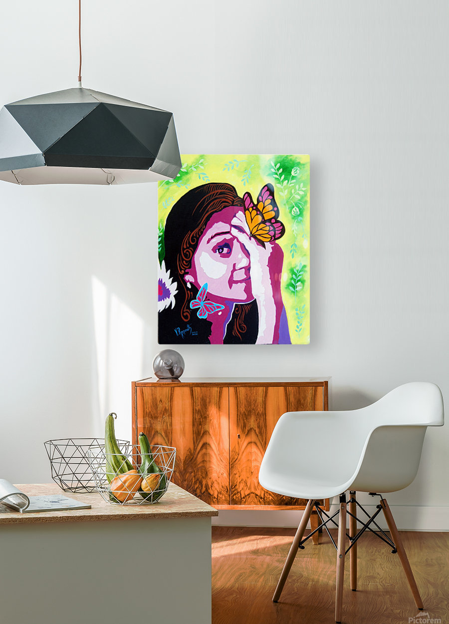 COLOURS OF A SMILE     HD Metal print with Floating Frame on Back