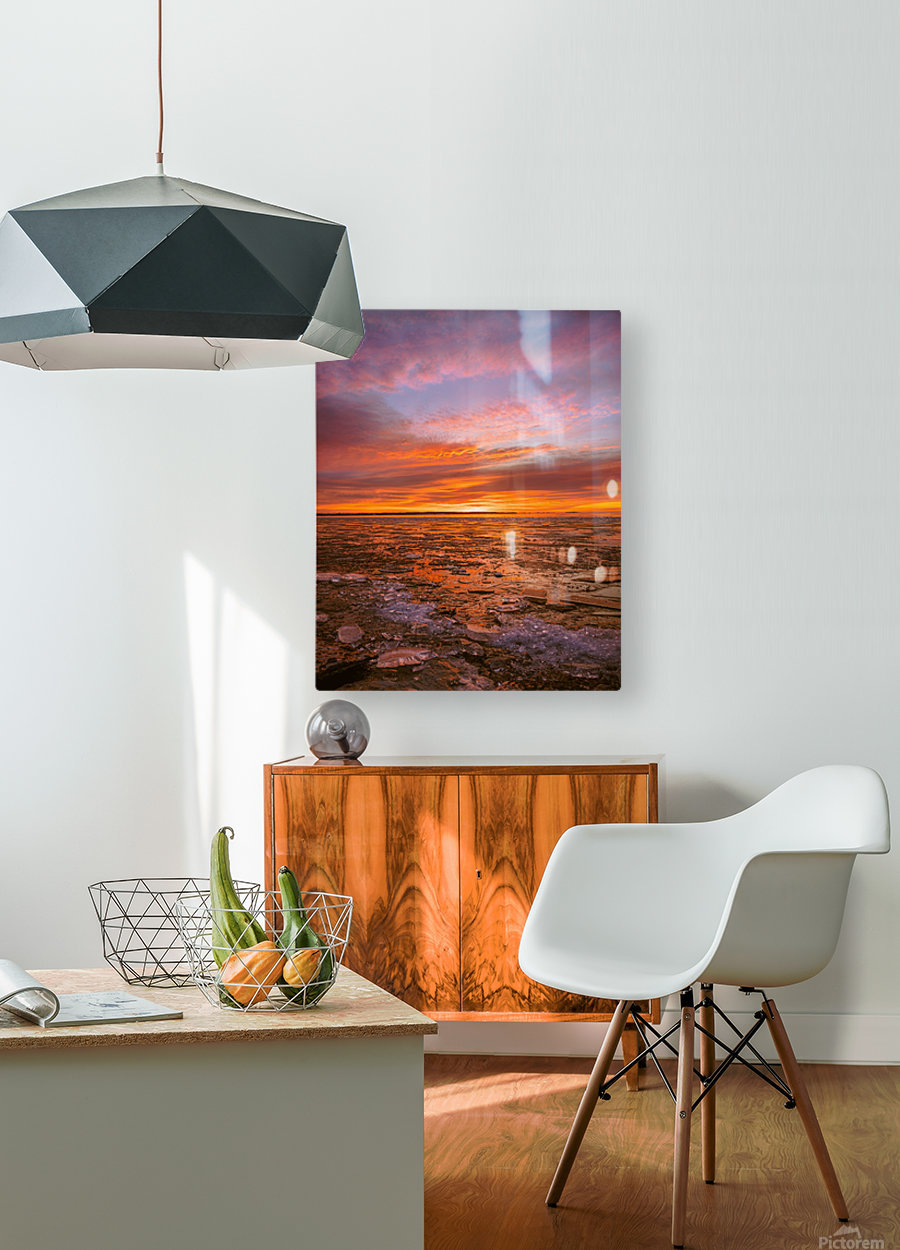 Fire and ICe  HD Metal print with Floating Frame on Back