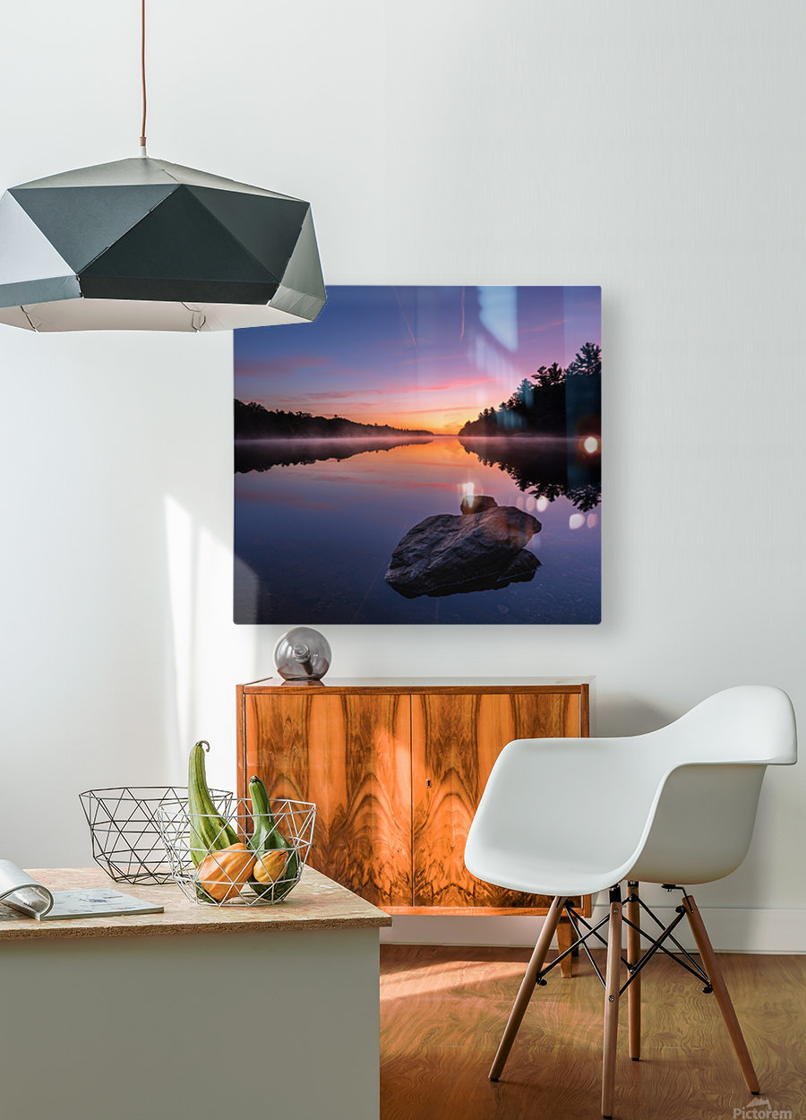 Magenta Magic  HD Metal print with Floating Frame on Back