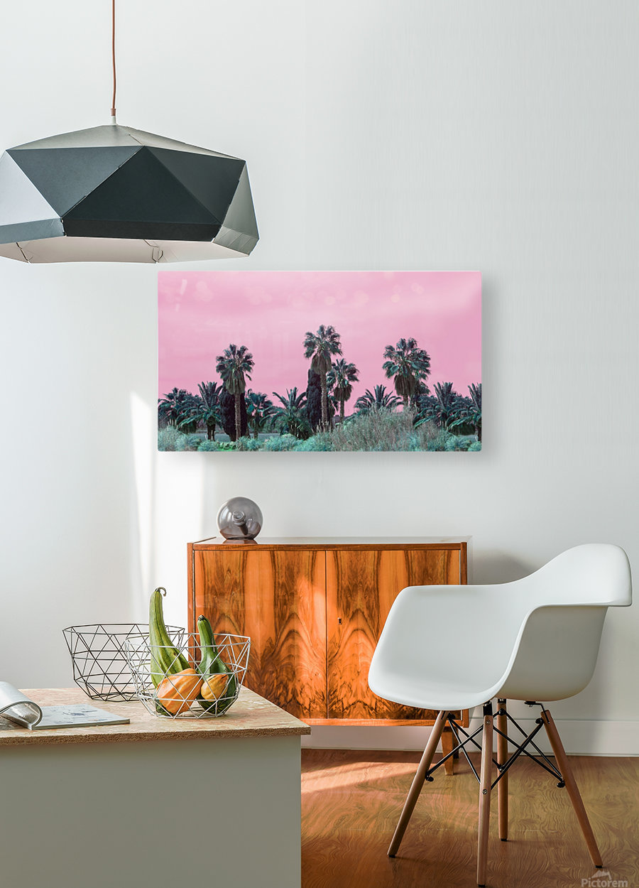 Pink Sky  HD Metal print with Floating Frame on Back