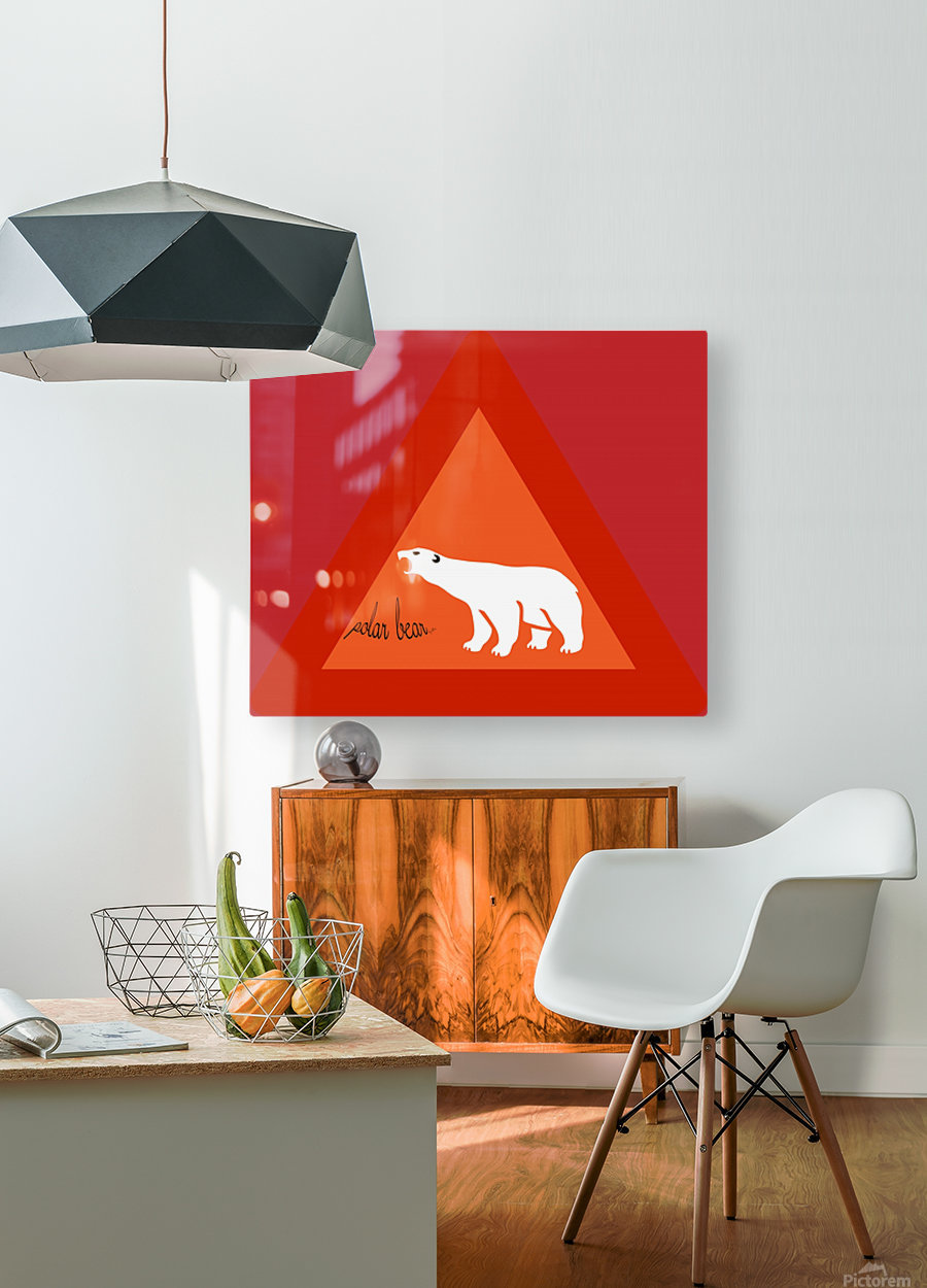 Polar Bear by dePace  HD Metal print with Floating Frame on Back