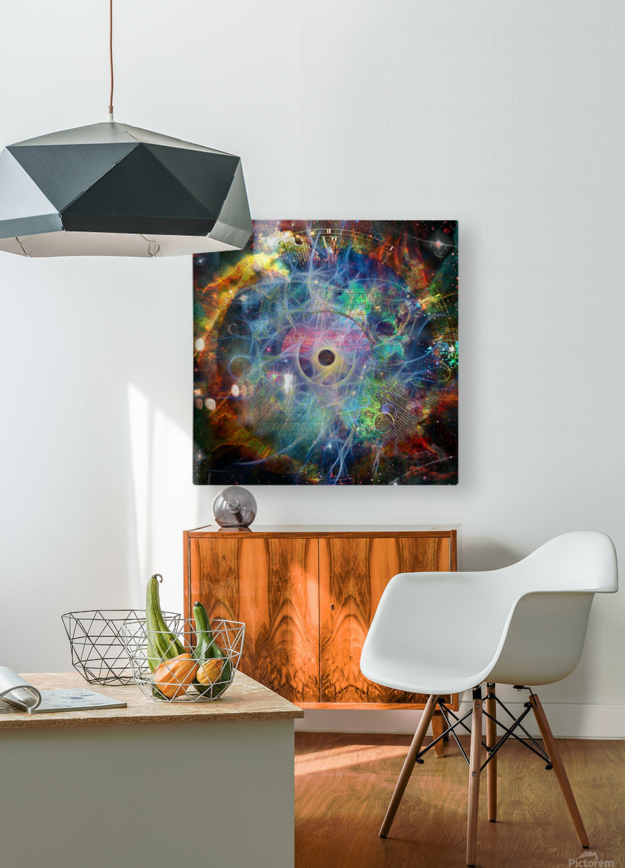 The Eye of Time  HD Metal print with Floating Frame on Back
