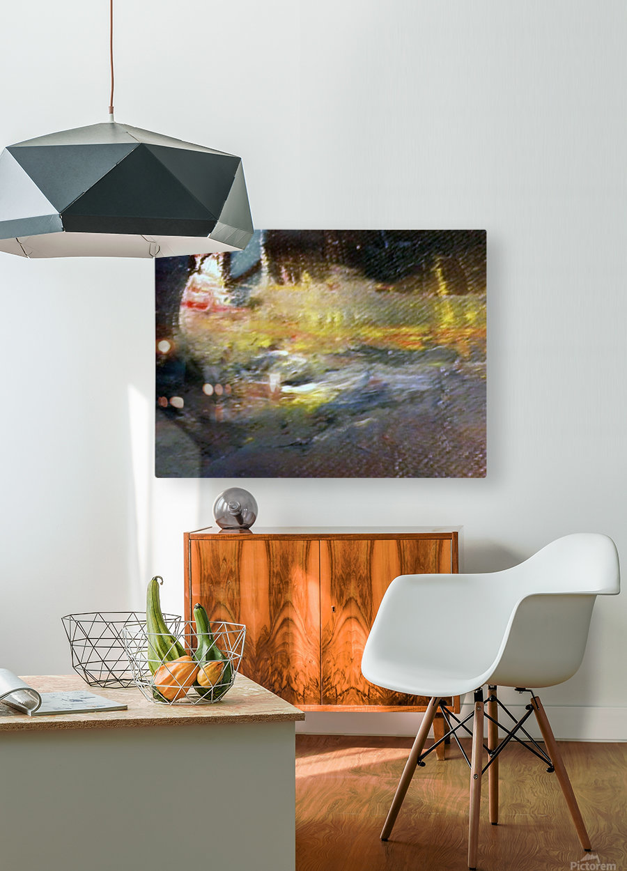 T Scape  HD Metal print with Floating Frame on Back