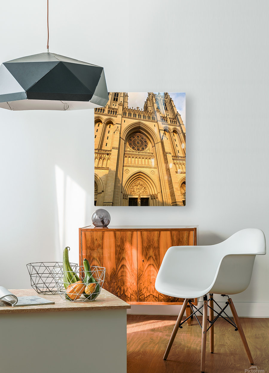 National Cathedral  HD Metal print with Floating Frame on Back