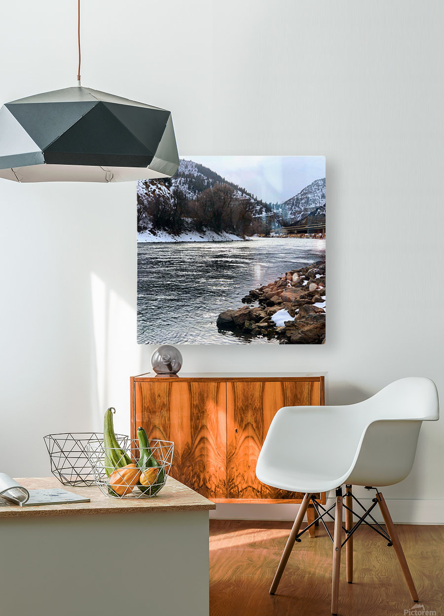 Colorado River  HD Metal print with Floating Frame on Back