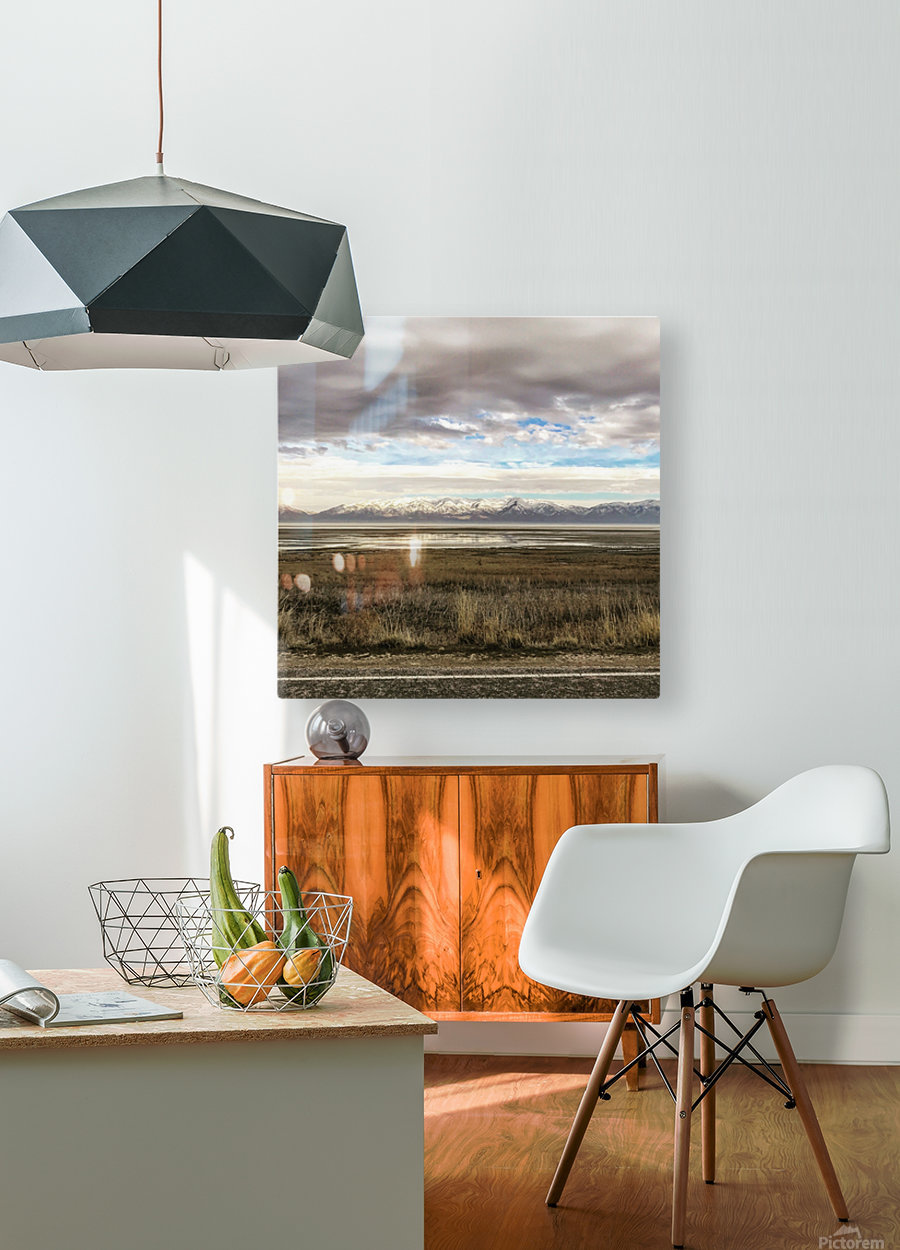 Great Salt Lake  HD Metal print with Floating Frame on Back