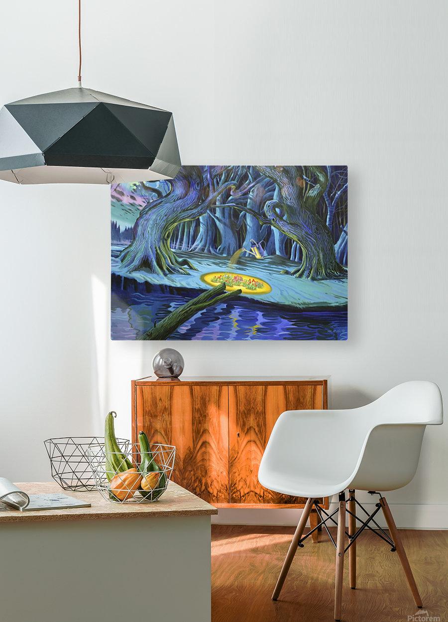 Mystic Flower Garden  HD Metal print with Floating Frame on Back