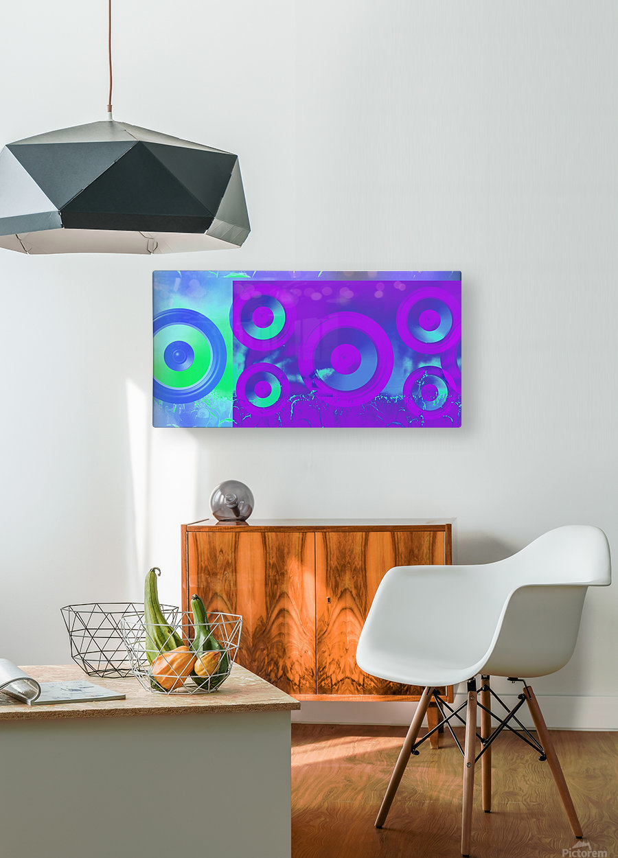 Music is energy  HD Metal print with Floating Frame on Back
