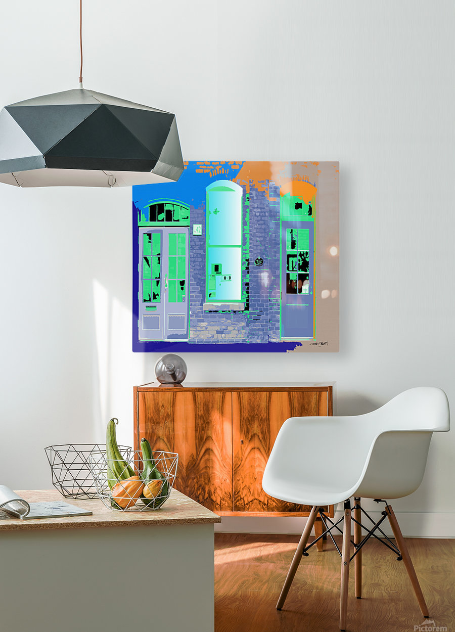 STORE FRONT by dePace  HD Metal print with Floating Frame on Back