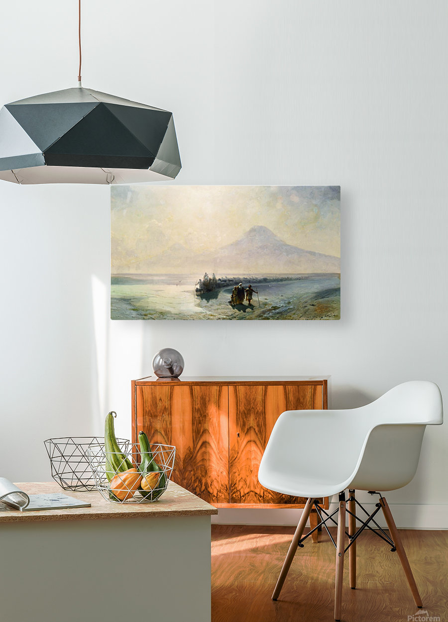 Dejection of Noah from mountain Ararat  HD Metal print with Floating Frame on Back