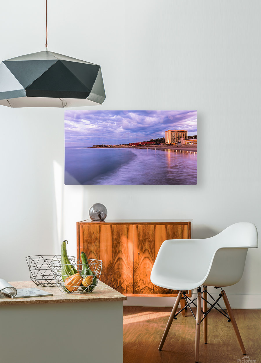 Icy  HD Metal print with Floating Frame on Back