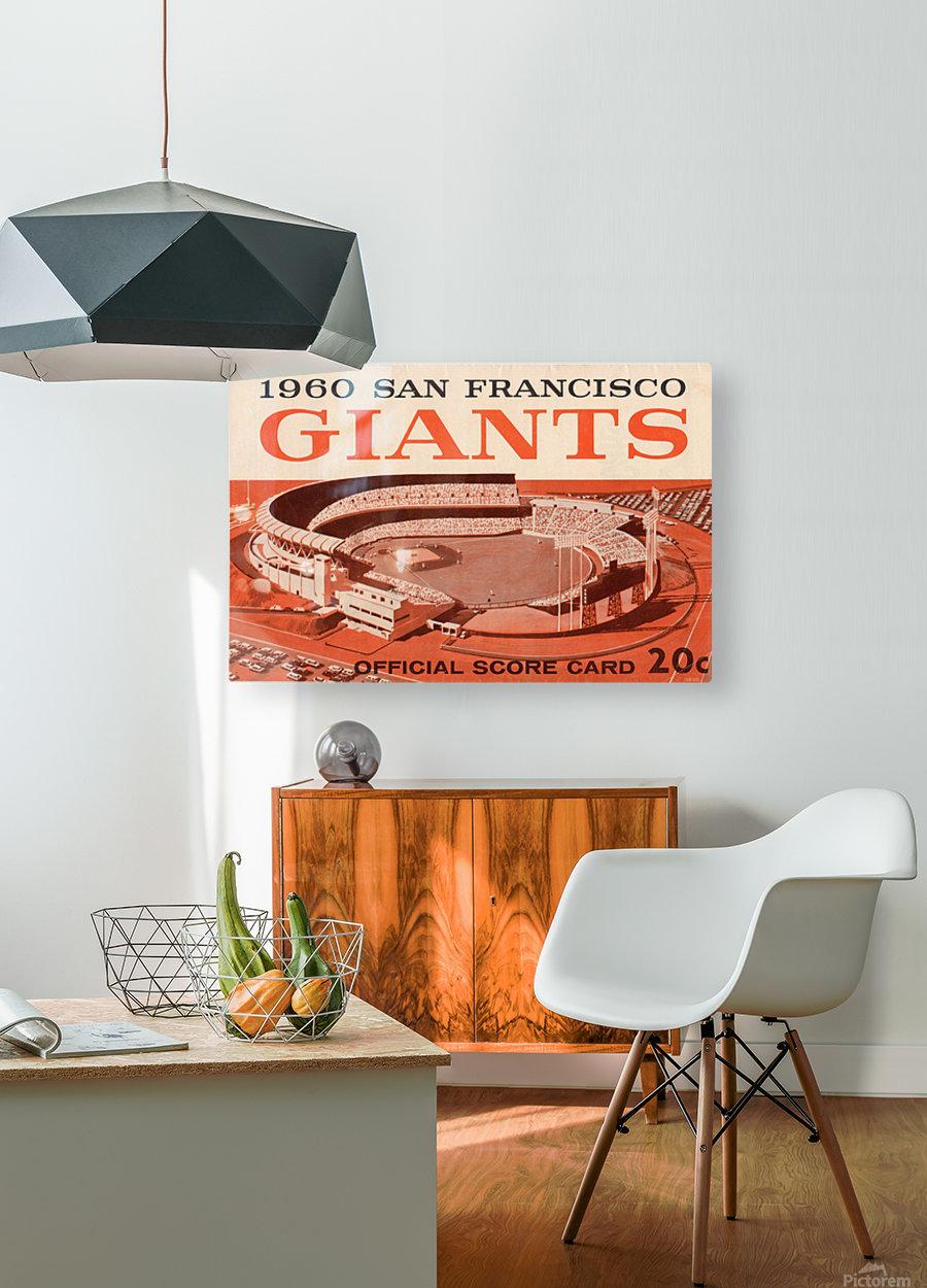 1960 San Francisco Giants  HD Metal print with Floating Frame on Back