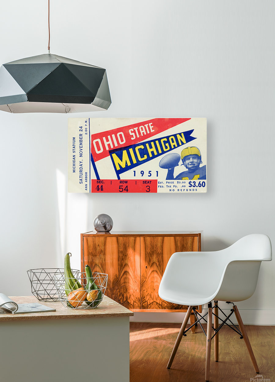 1951 Ohio State vs. Michigan  HD Metal print with Floating Frame on Back