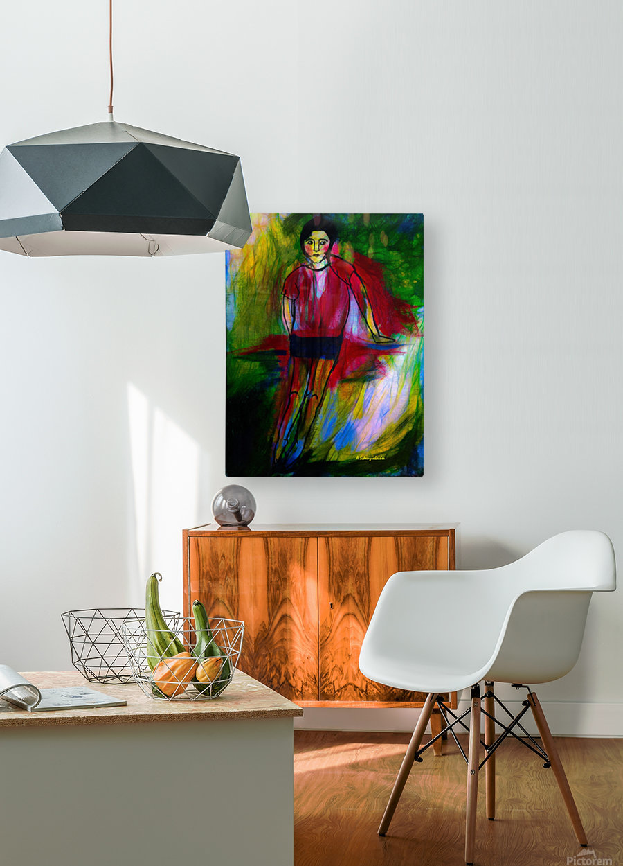 Being Young Again  HD Metal print with Floating Frame on Back