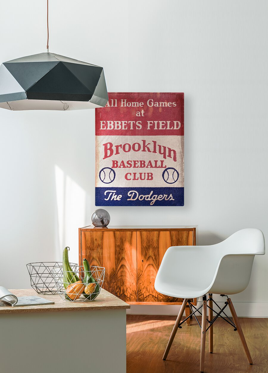 1939 Brooklyn Dodgers  HD Metal print with Floating Frame on Back