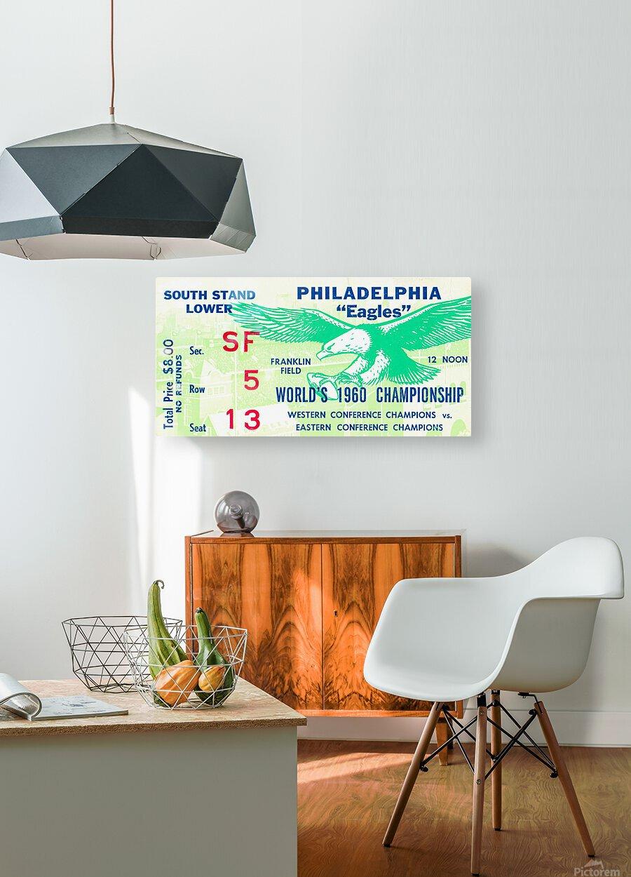1960 Philadelphia Eagles Football Ticket  HD Metal print with Floating Frame on Back