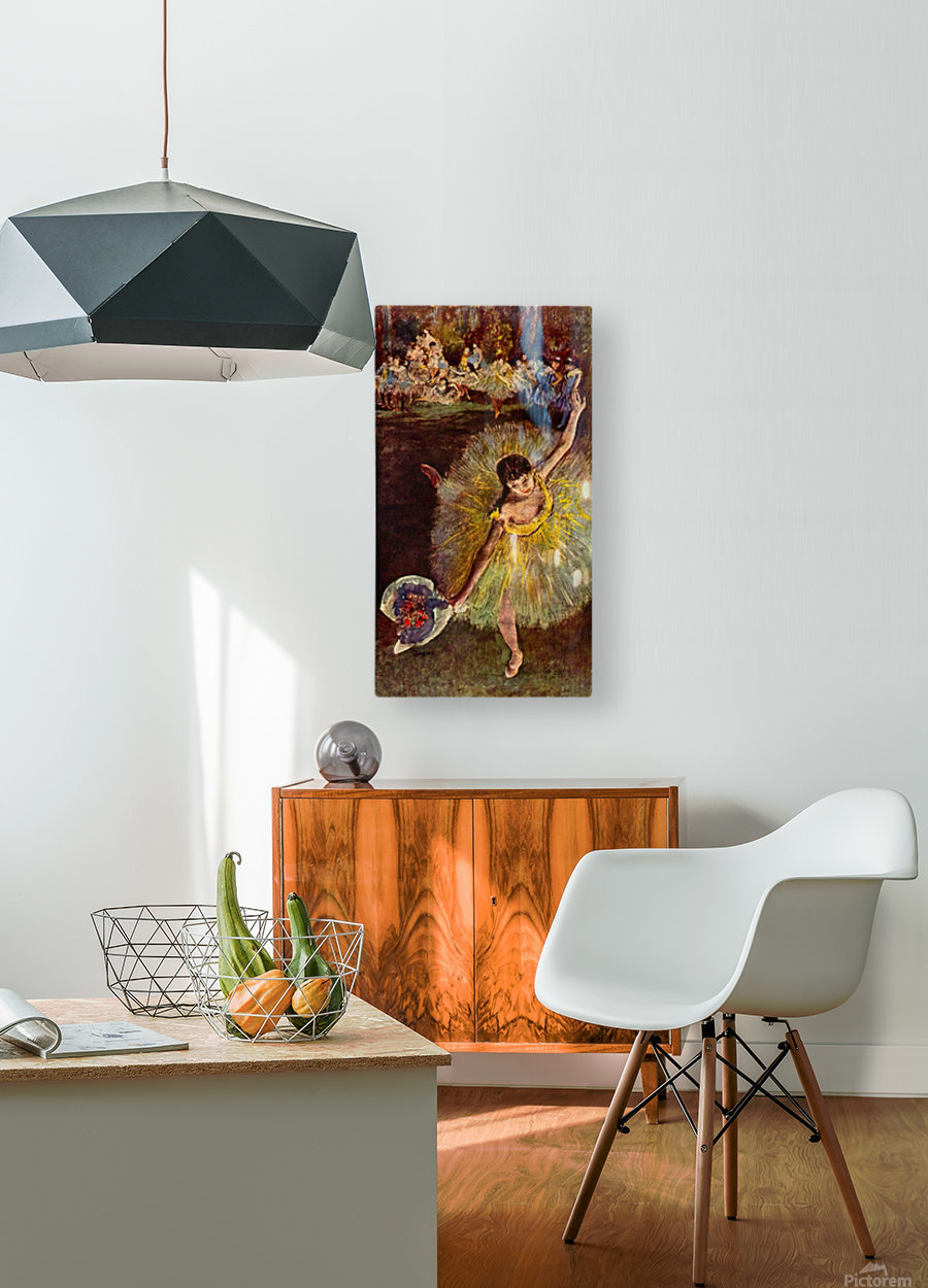End of the arabesque by Degas  HD Metal print with Floating Frame on Back