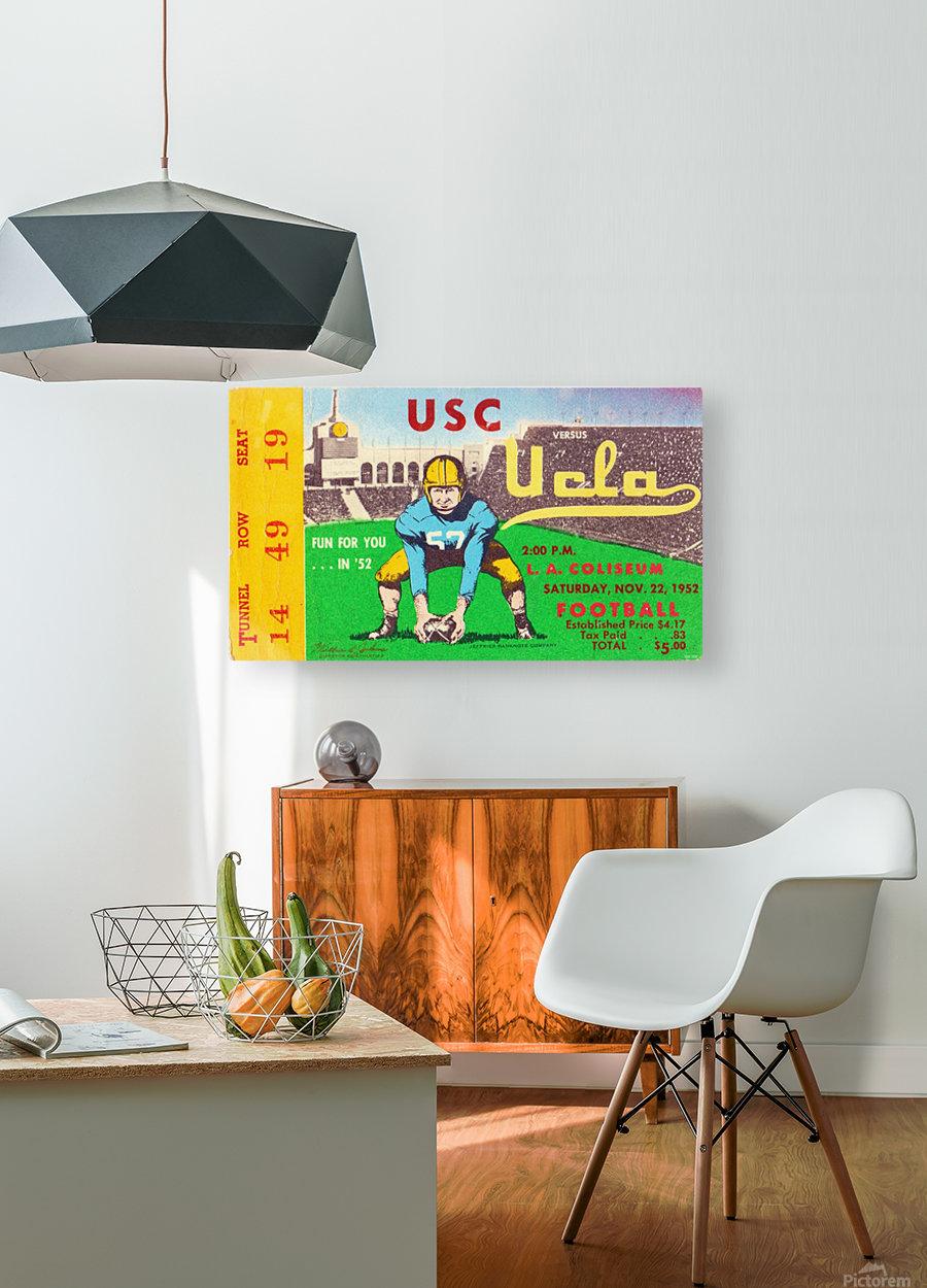 1952 USC vs. UCLA  HD Metal print with Floating Frame on Back