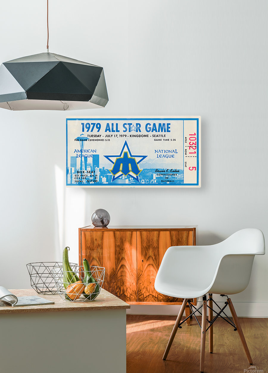 1979 Major League All-Star Game Seattle  HD Metal print with Floating Frame on Back