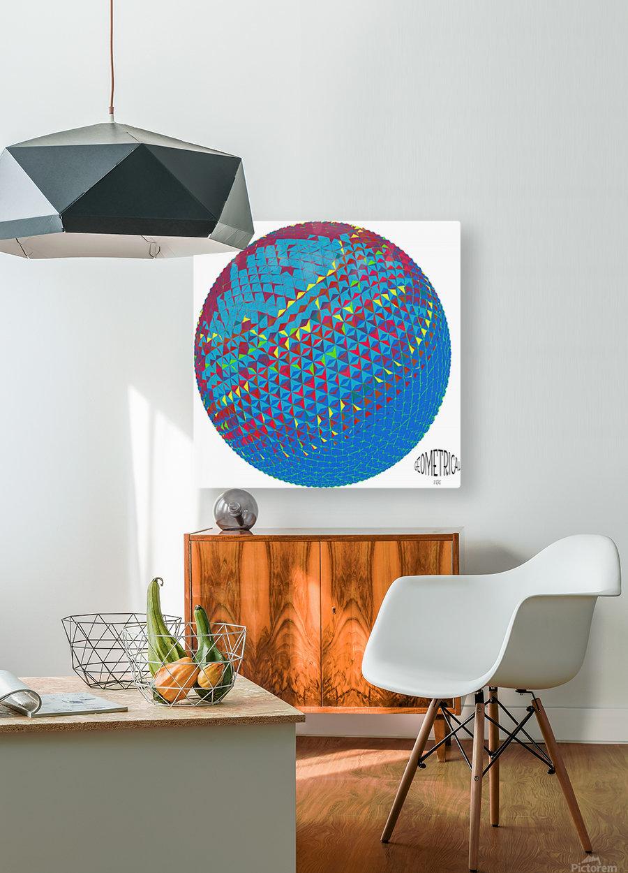 geometrical  HD Metal print with Floating Frame on Back