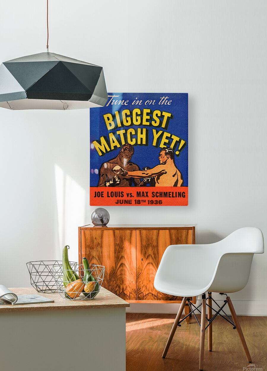 1936 Biggest Match Yet  HD Metal print with Floating Frame on Back
