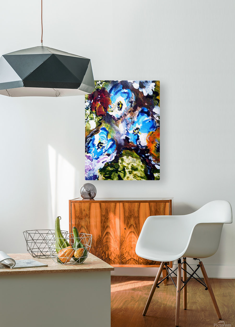 Primary Blue1  HD Metal print with Floating Frame on Back