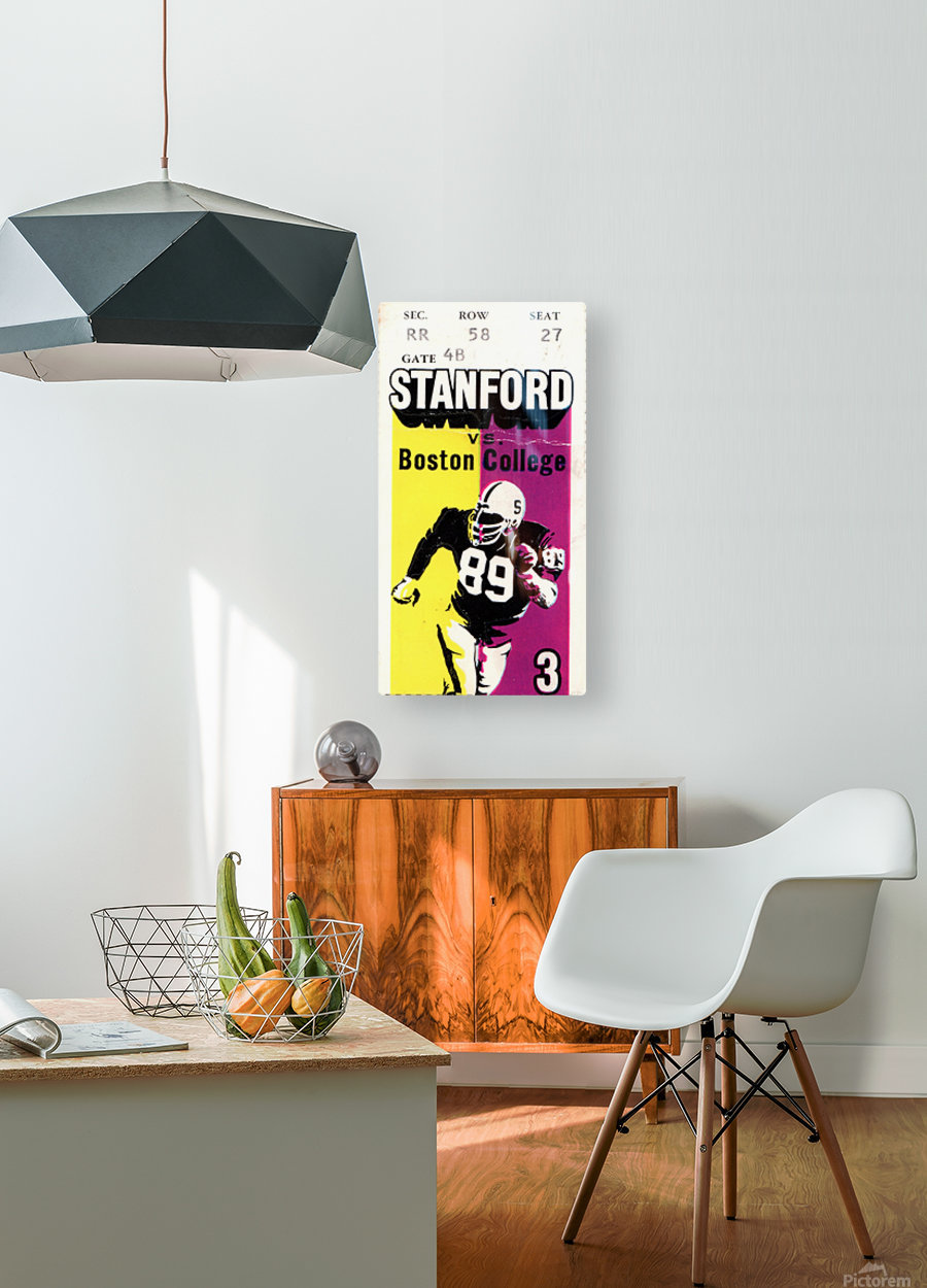 1979_College_Football_Boston College vs. Stanford_Palo Alto_Row One Brand College Art  HD Metal print with Floating Frame on Back