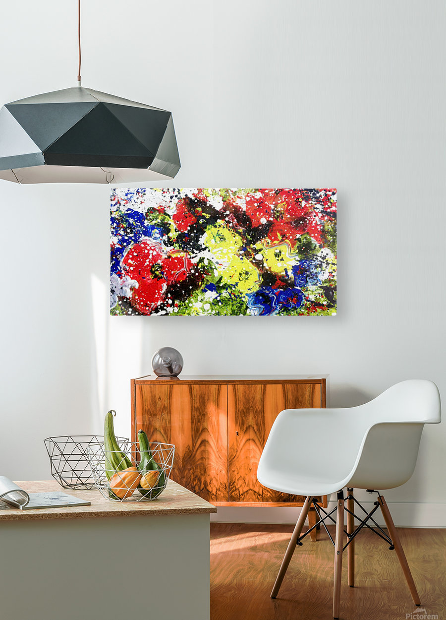 Primary Blossom  HD Metal print with Floating Frame on Back