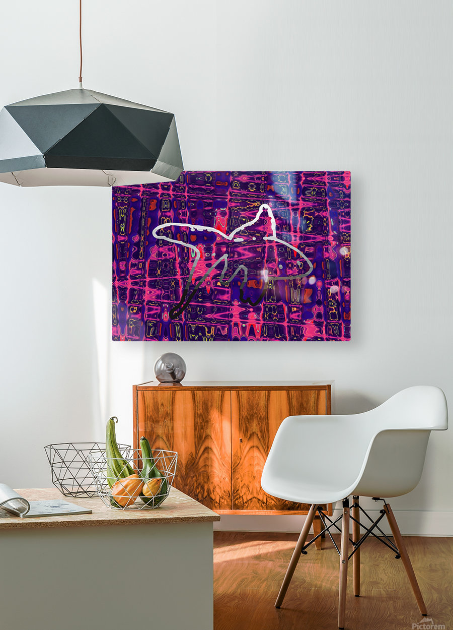 Abstract Fish  HD Metal print with Floating Frame on Back
