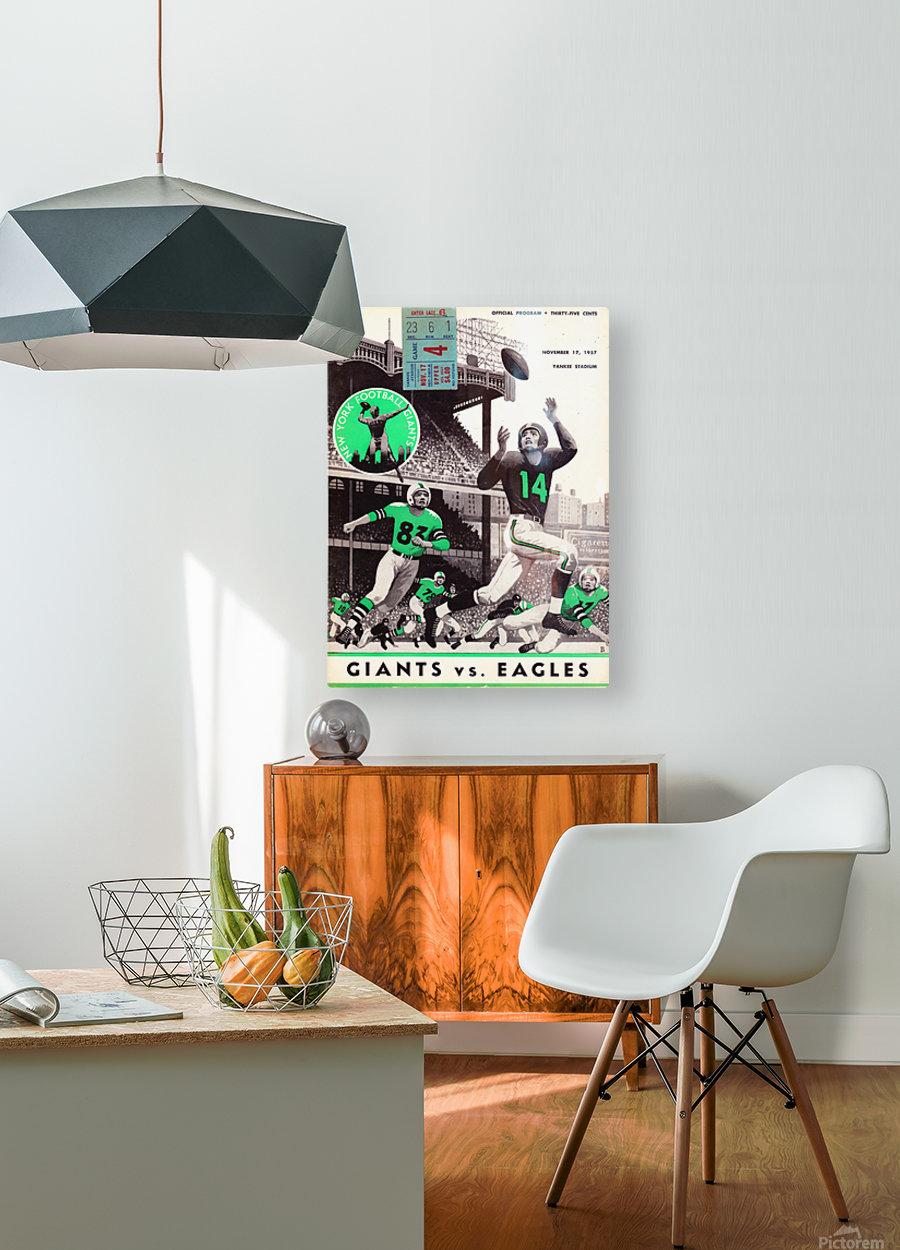 1957_National Football League_New York Giants vs. Philadelphia Eagles_Yankee Stadium_Row One Art  HD Metal print with Floating Frame on Back