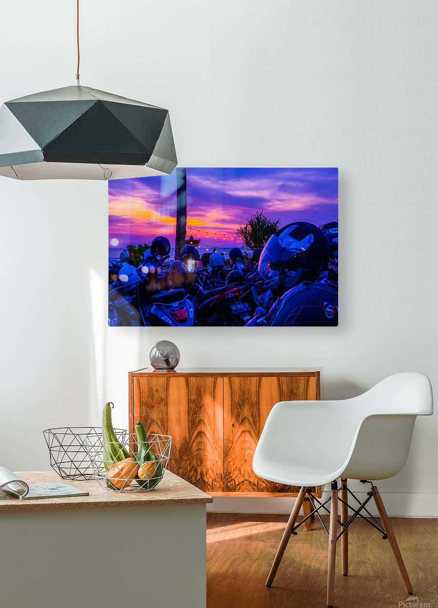 Echo Beach  HD Metal print with Floating Frame on Back