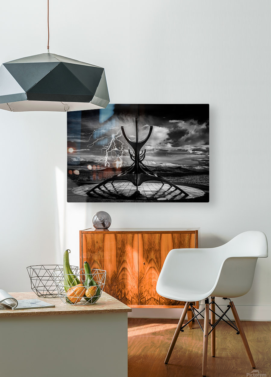 Hammer Of The Gods  HD Metal print with Floating Frame on Back