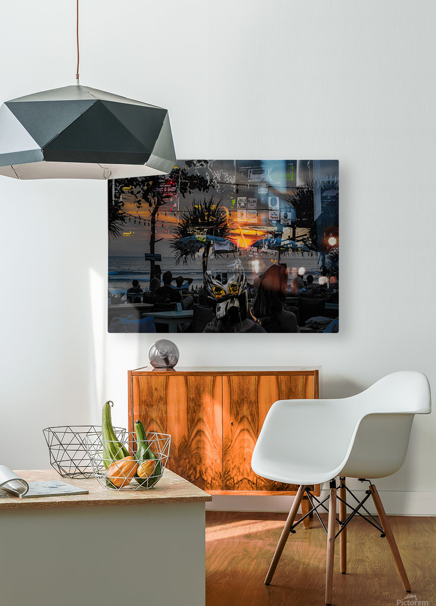 Missing My Scooter  HD Metal print with Floating Frame on Back