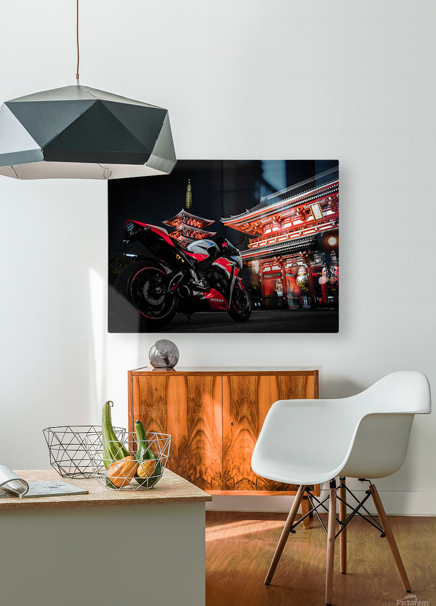 Honda At The Temple  HD Metal print with Floating Frame on Back