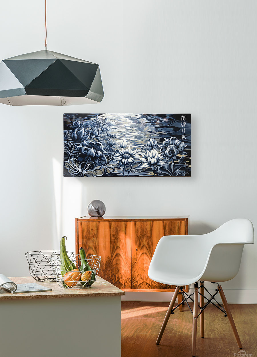 Silver night  HD Metal print with Floating Frame on Back