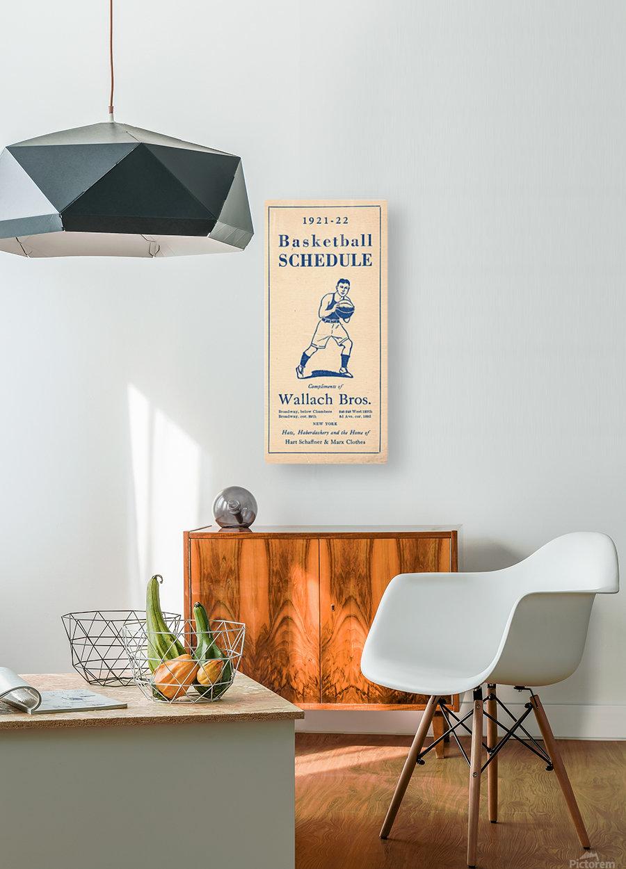 1921 Basketball  HD Metal print with Floating Frame on Back