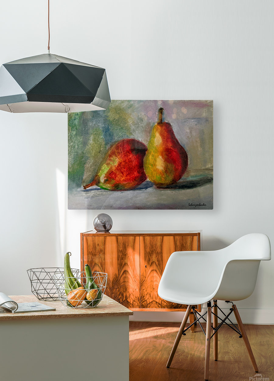 Pears  HD Metal print with Floating Frame on Back