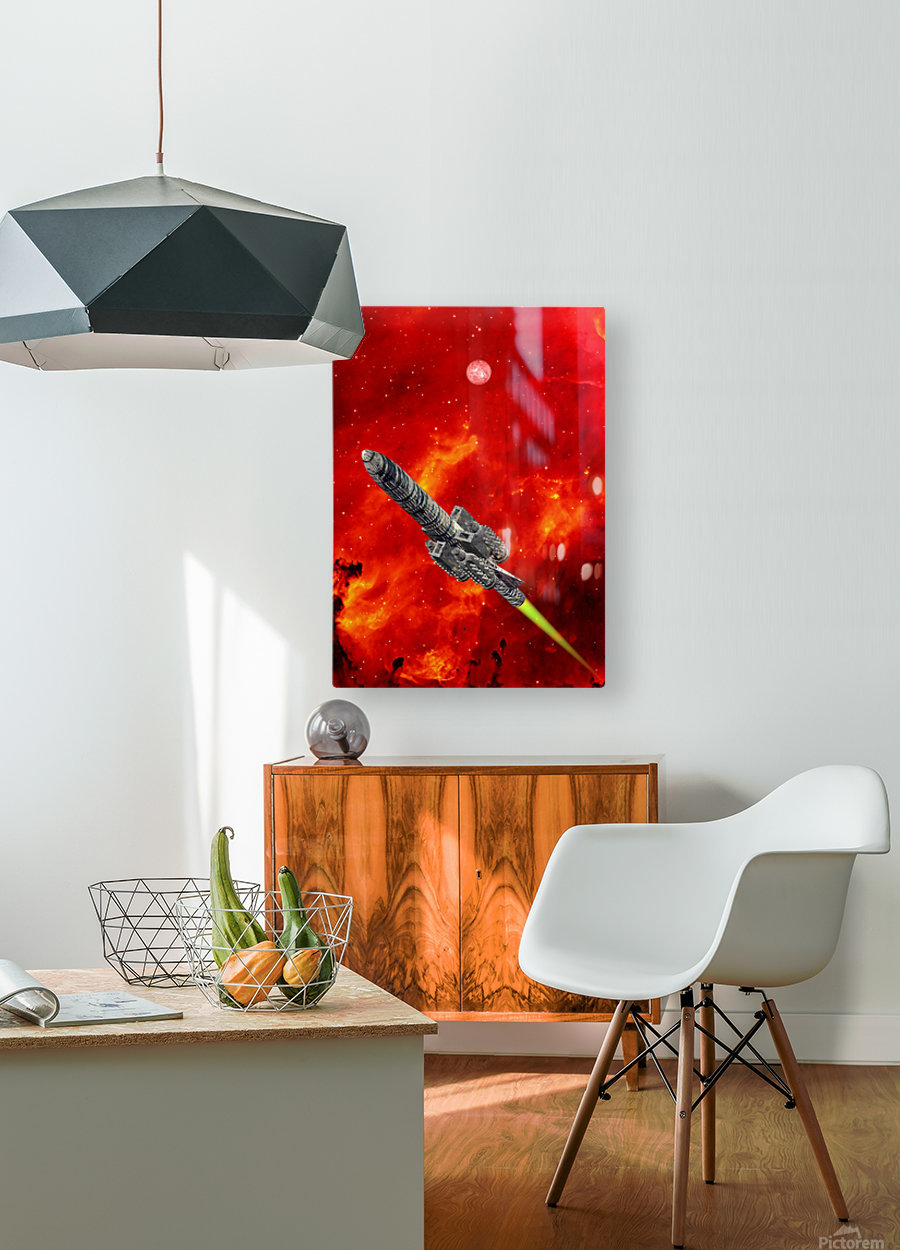Journey to explore Mars  HD Metal print with Floating Frame on Back