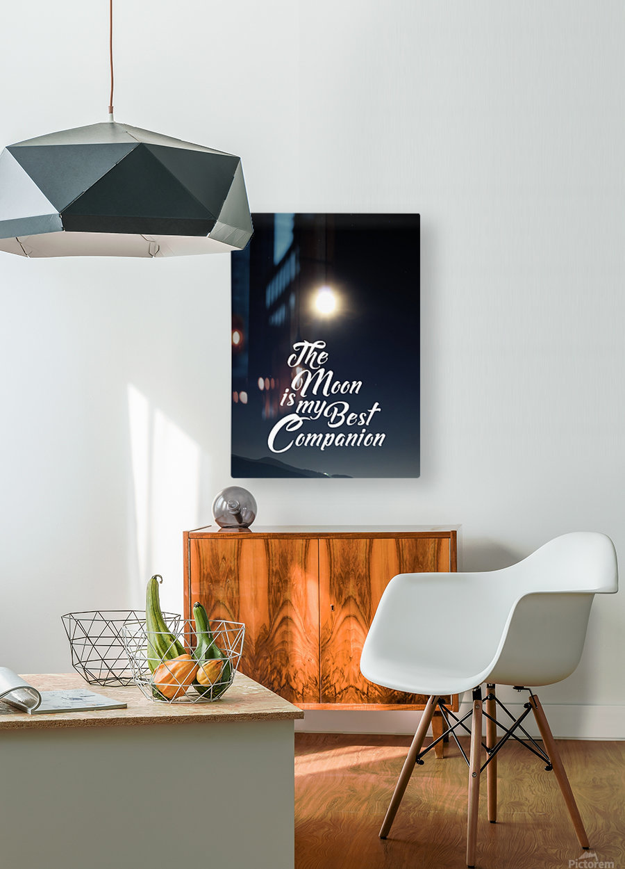 The Moon is Best Companion  HD Metal print with Floating Frame on Back