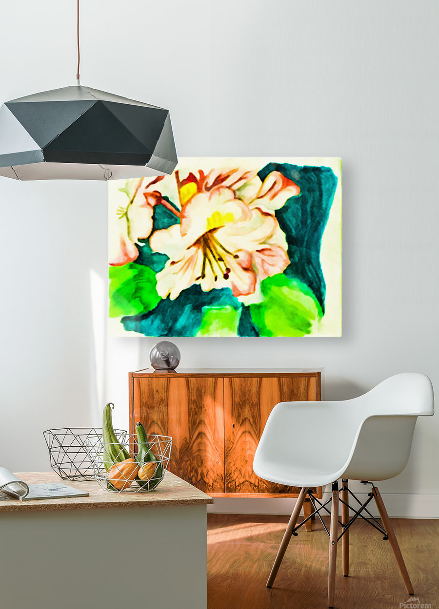 Radiant Flowers   HD Metal print with Floating Frame on Back
