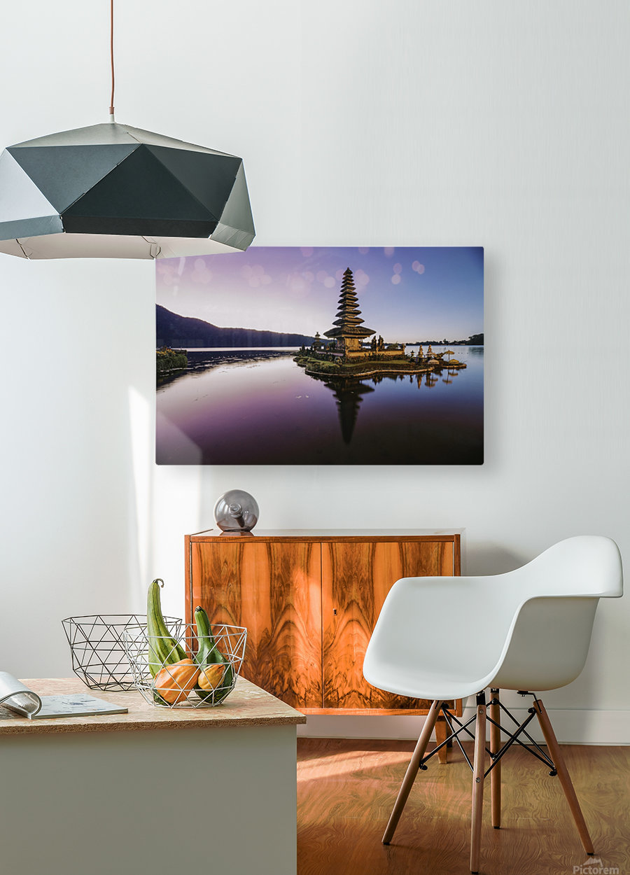 Sunrise in Bali  HD Metal print with Floating Frame on Back