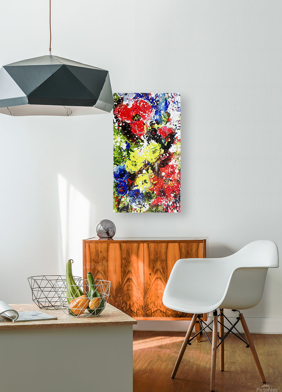 Primary Blossom 1  HD Metal print with Floating Frame on Back