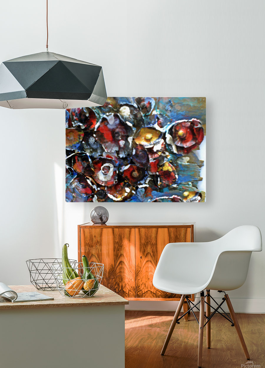 Flowers Mix  HD Metal print with Floating Frame on Back