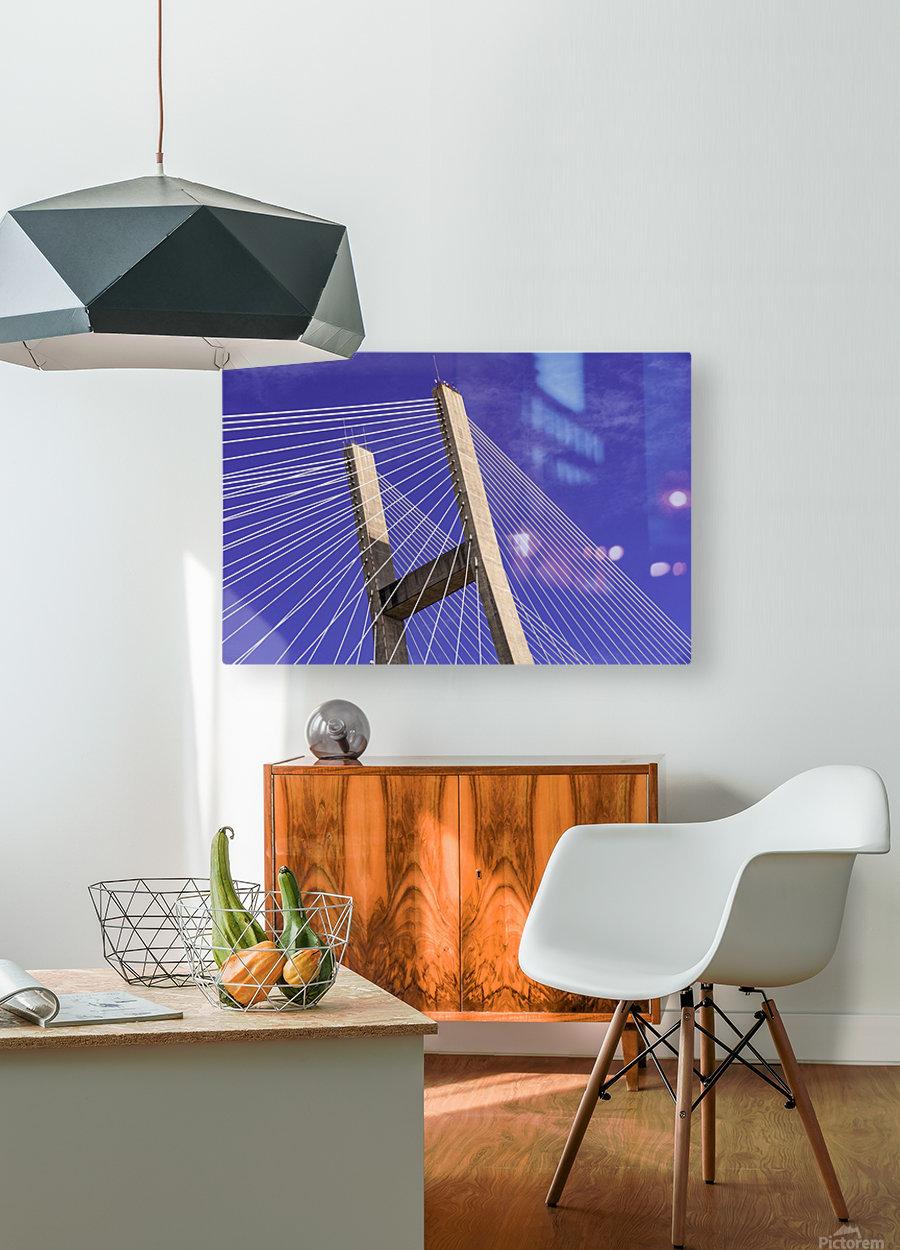 Talmadge Memorial Bridge   Savannah 04212  HD Metal print with Floating Frame on Back