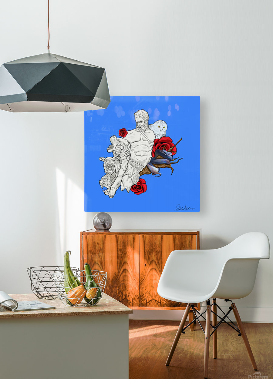 Beast Tamer  HD Metal print with Floating Frame on Back