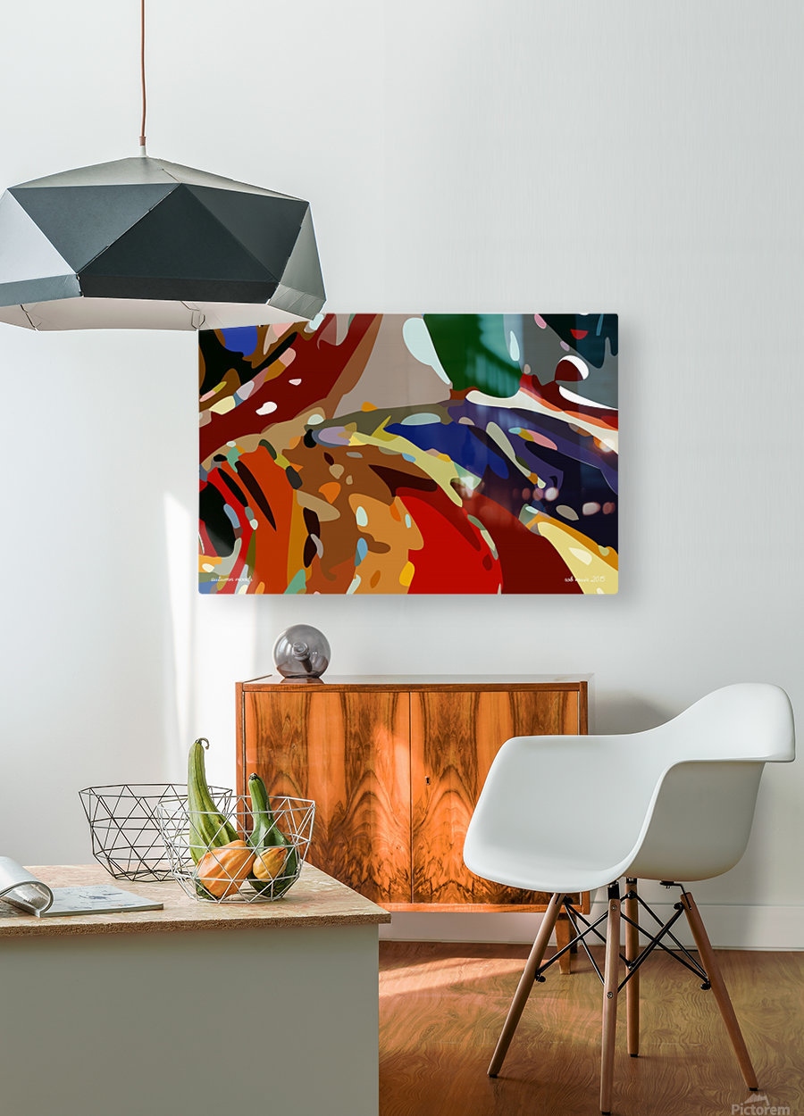 autumn moods  HD Metal print with Floating Frame on Back