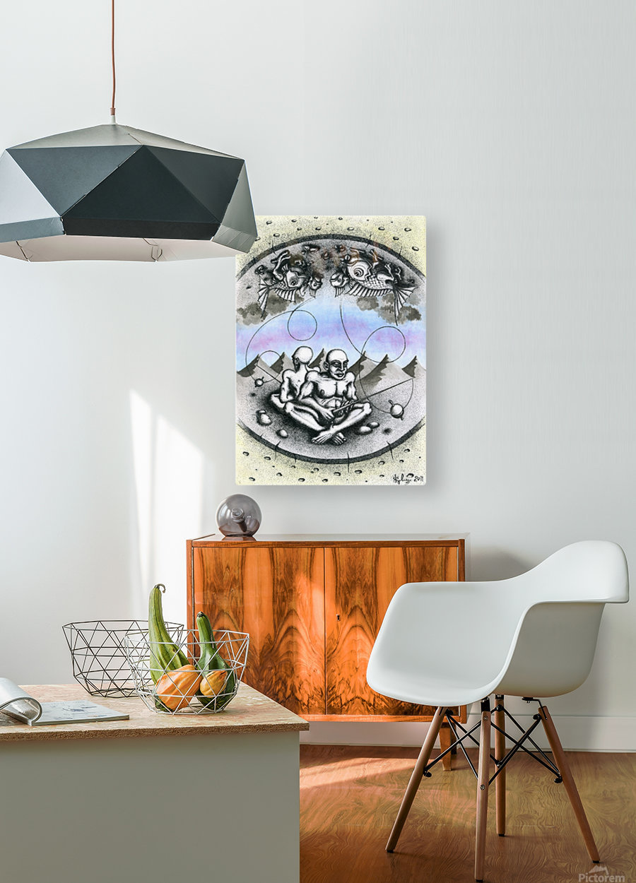 Fish_places  HD Metal print with Floating Frame on Back