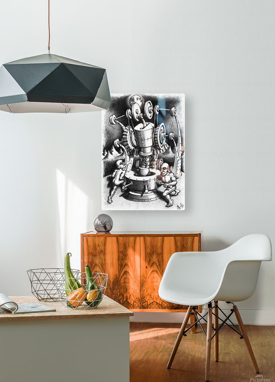 WES  HD Metal print with Floating Frame on Back